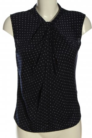 Orsay Batik shirt blauw-wit volledige print casual uitstraling