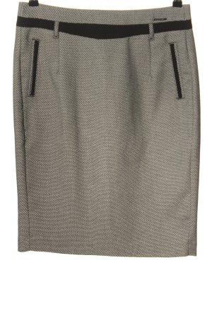 Orsay Bleistiftrock weiß-schwarz Allover-Druck Business-Look