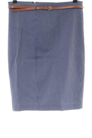 Orsay Bleistiftrock blau-weiß Streifenmuster Business-Look