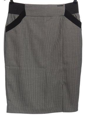Orsay Bleistiftrock weiß-schwarz Allover-Druck Casual-Look
