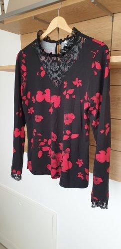 Orsay Camicetta a maniche lunghe nero-rosso scuro