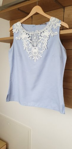 Orsay Camicetta a maniche corte bianco-azzurro Cotone