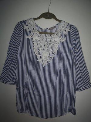 ORSAY Bluse, blau-weiß gestreift, Gr. 38