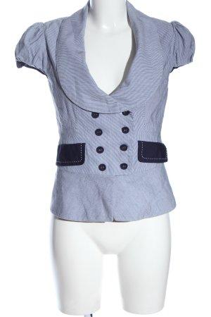 Orsay Giacca a blusa blu-bianco stampa integrale stile casual