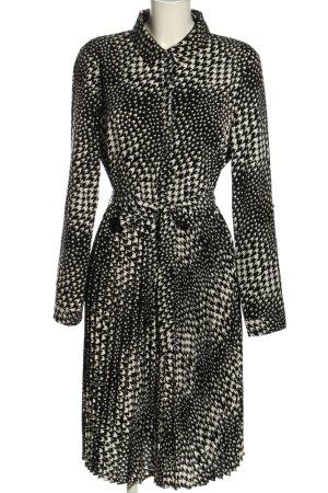 Orsay Blusenkleid schwarz-weiß Allover-Druck Casual-Look