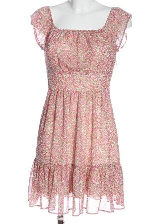 Orsay Blusenkleid pink-grün Allover-Druck Elegant