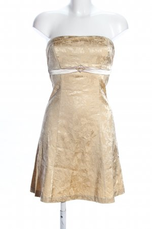 Orsay Bustier Dress gold-colored allover print wet-look