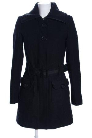 Orsay Abrigo de piloto negro look casual