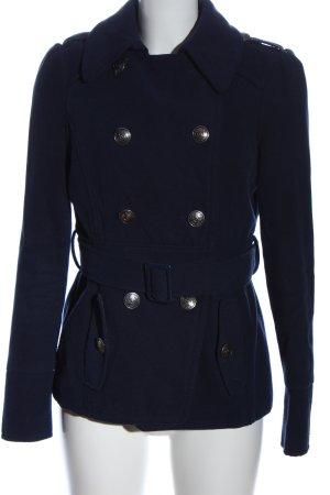 Orsay Heavy Pea Coat blue casual look