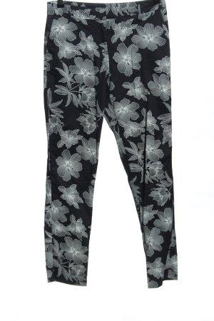 Orsay Caprihose schwarz-weiß Blumenmuster Casual-Look