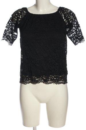 Orsay Bluzka typu carmen czarny Styl klasyczny