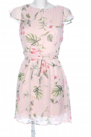 Orsay Chiffonkleid pink-grün Allover-Druck Elegant