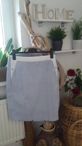Orsay Spódnica midi biały-jasnoniebieski Bawełna