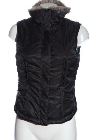 Orsay Down Vest black casual look
