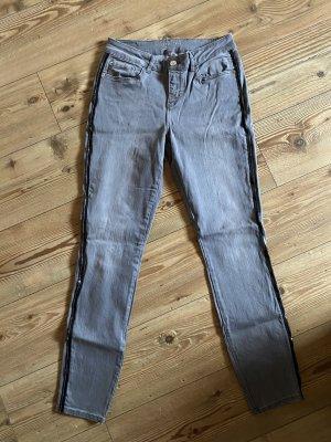 Orsay Jeans skinny gris foncé coton