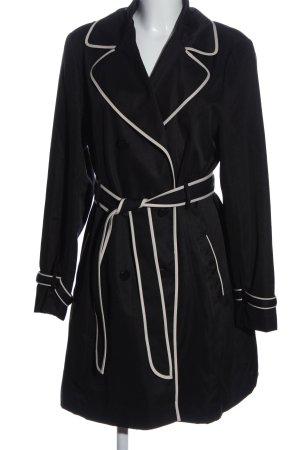 Orsay Prochowiec czarny-biały W stylu biznesowym