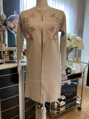 Orsay Eleganten Longblazer/Mantel/Cardigan/Strickjacke/, Neu ohne Etikett, Größe S, mit süßem Blumen- und Bienenstickerei im Gucci Style