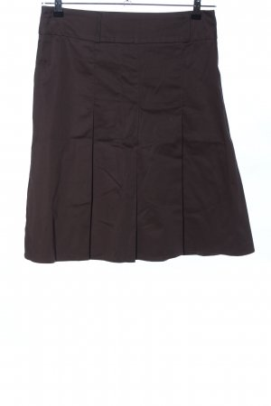 Orsay Plaid Skirt brown business style