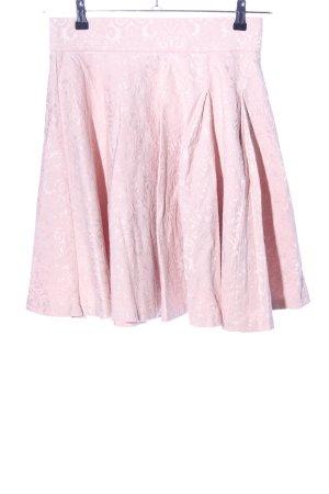 Orsay Plaid Skirt pink flower pattern casual look