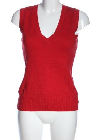Orsay Sweter bez rękawów z cienkiej dzianiny czerwony W stylu biznesowym