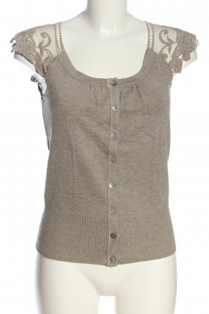 Orsay Sweter bez rękawów z cienkiej dzianiny brązowy Melanżowy