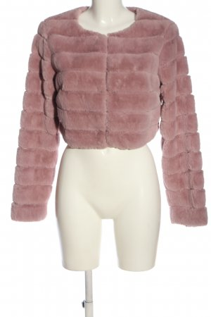 Orsay Fur Jacket pink quilting pattern casual look