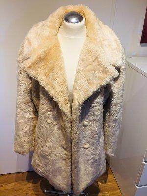 Orsay: Flauschige Teddyfell Jacke in Beige Gr. 38 neuwertig