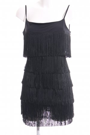 Orsay Jurk met franjes zwart elegant