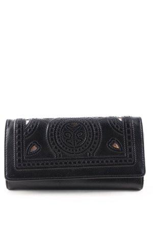 Orsay Portefeuille noir motif abstrait style décontracté