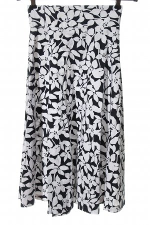 Orsay Maxirock weiß-schwarz Blumenmuster Casual-Look