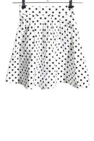 Orsay Glockenrock weiß-schwarz Punktemuster Casual-Look