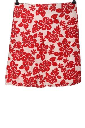 Orsay Glockenrock rot-weiß Allover-Druck Casual-Look