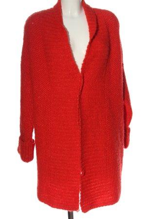 Orsay Veste tricotée en grosses mailles rouge style décontracté