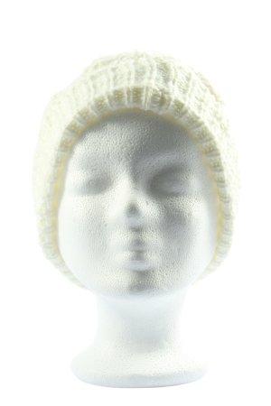 Orsay Bonnet en crochet blanc style décontracté