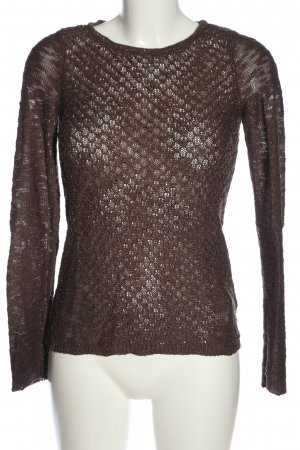 Orsay Crochet Sweater brown casual look