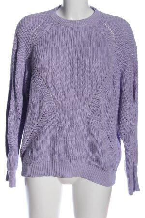 Orsay Szydełkowany sweter fiolet W stylu casual
