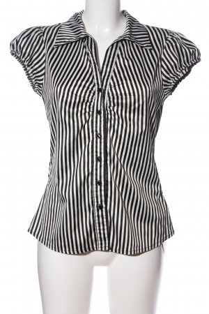 Orsay Hemd-Bluse schwarz-weiß Streifenmuster Casual-Look