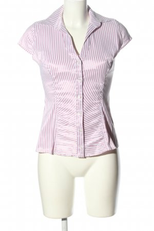 Orsay Hemd-Bluse lila-weiß Streifenmuster Business-Look