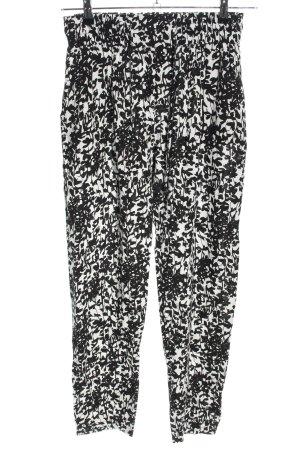 Orsay High-Waist Hose schwarz-weiß Allover-Druck Casual-Look