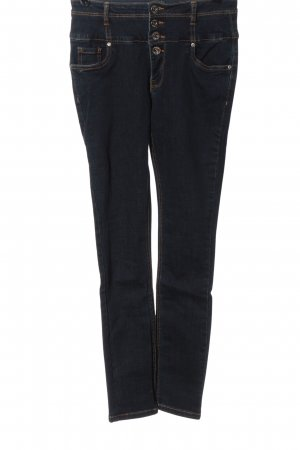 Orsay Vaquero de talle alto azul look casual