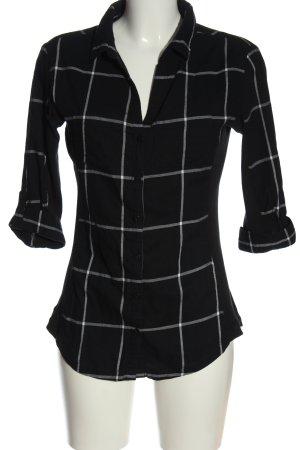 Orsay Lumberjack Shirt black-white check pattern business style
