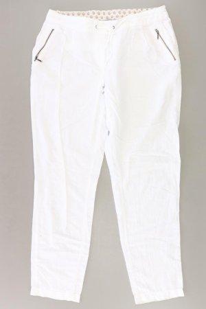 Orsay Hose Größe 38 weiß aus Leinen