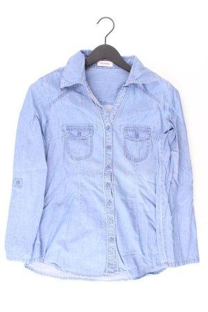 Orsay Jeansbluse Größe 38 Langarm blau