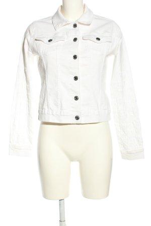 Orsay Veste en jean blanc style décontracté