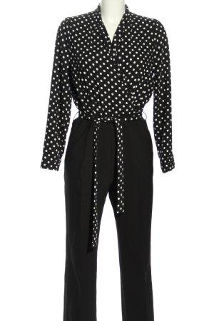 Orsay Jumpsuit schwarz-weiß Punktemuster Business-Look