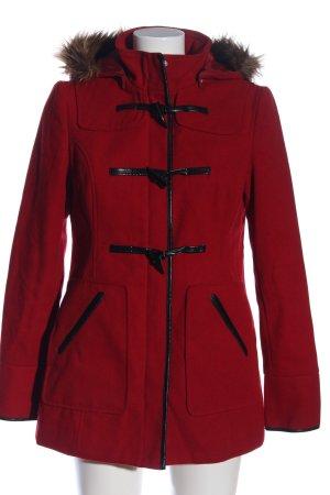 Orsay Płaszcz z kapturem czerwony-czarny W stylu casual
