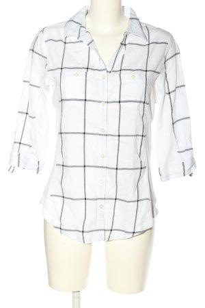 Orsay Camicia a scacchi bianco-nero motivo a quadri stile casual