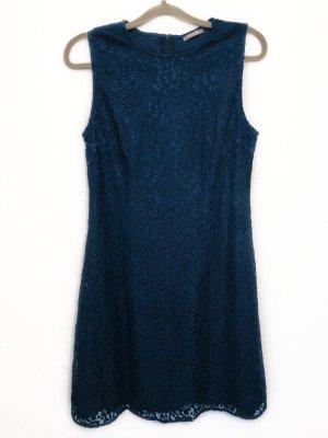 Orsay Kleid Minikleid Sommerkleid Freizeitkleid Skaterkleid Spitze Petrol grün Größe L Damen