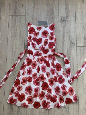 Orsay Sukienka z rękawem balonowym biały-czerwony