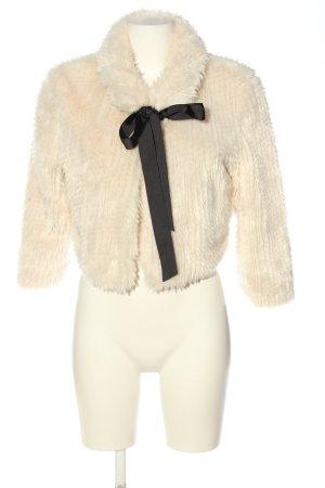 Orsay Kurtka ze sztucznym futrem kremowy Elegancki